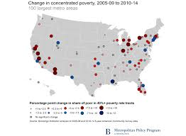 United States Map Major Cities by U S Concentrated Poverty In The Wake Of The Great Recession