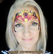 spider princess face painting by amanda moody of daydream face