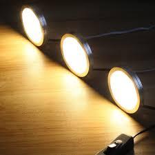 le led under cabinet lighting kit 1020lm puck lights 3000k warm