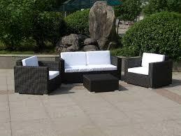 White Wicker Outdoor Patio Furniture by Furniture Outdoor White Wicker Patio Furniture With Brown Ceramic
