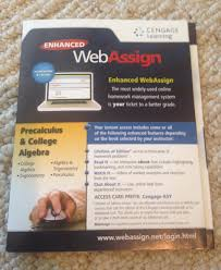 enhanced web assign precalculus and college algebra cengage