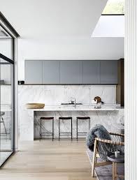 modern sleek kitchen minimal kitchen calacatta marble