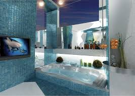 Mosaic Bathroom Tile by Blue Mosaic Bathroom Tiles Interior Design Ideas