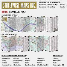 Sf Metro Map by Streetwise Seville Map Laminated City Center Street Map Of