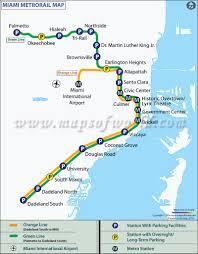 Large Map Of Florida by Miami Metro Map Metrorail