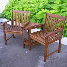 Wood Patio Furniture Sets - shop international caravan 3 piece oiled acacia wood patio