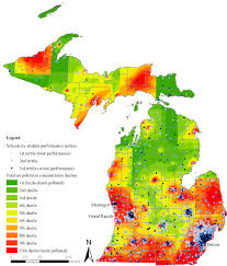 Map Of University Of Michigan by Air Pollution Near Michigan Schools Linked To Poorer Student