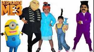 Family Of 3 Halloween Costume by Despicable Me 3 Halloween Costumes And Toys Youtube