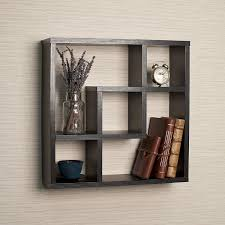 Wall Hanging Shelves Design Amazon Com Geometric Square Wall Shelf With 5 Openings Home