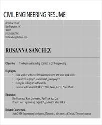 civil engineering resume examples 47 engineering resume samples free u0026 premium templates