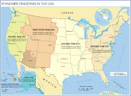 Political Map Of United States And Canada by Time Zone Map Of The United States Nations Online Project