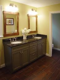 Black Distressed Bathroom Vanity by Rustic Mirror Frame And Gray Vanity Cabinets Feat Awesome Wood