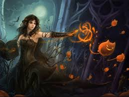 free halloween background images my free wallpapers fantasy wallpaper halloween witch screen
