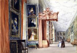 David Cox by The Long Gallery Hardwick Hall Derbyshire 1840 David Cox