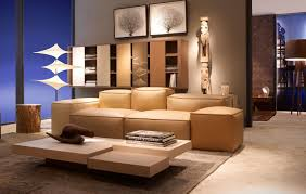 living room modern lighting lcd tv wall unit teal and brown