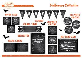 printable halloween banner free retro chalkboard halloween printables from cherries n