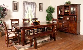 Teak Dining Room Table And Chairs by 7 Piece Extension Table With Chairs And Bench Set By Sunny Designs