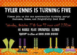 free halloween invite templates printable birthday invitations girls fall autumn party funny