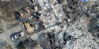 Willow Wildfire California by Drone Video California Neighborhood Ruined By Wildfire