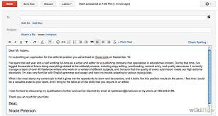 Example Of Email With Resume Attached by Sample Email Cover Letter Jvwithmenow Com