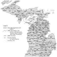 Us Map Michigan by Michigan Deer Harvest Survey Dmu Map Key
