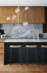 Kitchen Marble Backsplash Grey Marble Backsplash Natural Wood Cabinets Modern Kitchen