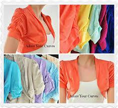 Plus Size Cropped Cardigan Plus Size Women U0027s Cropped Bolero Ruched Shrug Cardigan Jacket Top