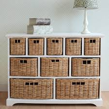 Ikea Wicker Baskets tetbury wide storage chest of drawers with wicker baskets very