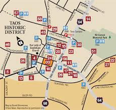 Unm Map Taos Historic District Discover Taos