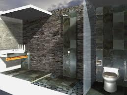 Natural Stone Bathroom Ideas Bathroom Rustic Natural Stone Bathroom Wall With Tube Glass In