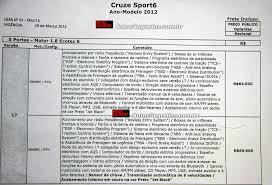 Chevrolet Cruze Sport6 terá preços entre R$ 64.900 e R$ 79.400 ...