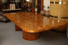 magnificent monumental burl wood dining table by steve chase for