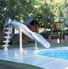 inter fab x stream 2 slide for in ground swimming pools