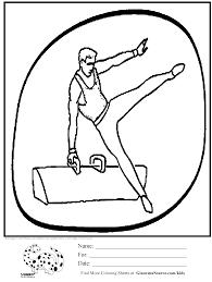 printable coloring pages gymnastics