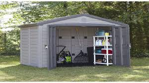 Rubbermaid Garden Tool Storage Shed by Keter Factor Large 4 X 6 Ft Resin Outdoor Backyard Garden Storage