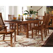 Round Dining Table Sets For 6 A America Toluca Rectangular Extension Dining Table Rustic Amber