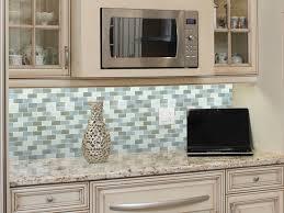 Glass Kitchen Backsplash Decoration Ideas Appealing Home Interior Design Using Beach Glass