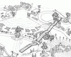 6 pics of water park coloring pages birds eye view sketches