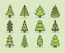 cute christmas tree icons vector art u0026 graphics freevector com