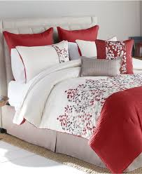 Red King Comforter Sets Victoria Classics Ava 8 Piece Embroidered Cal King Comforter Set