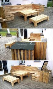 Pallets Patio Furniture - convert old used pallets into something useful wood pallet furniture