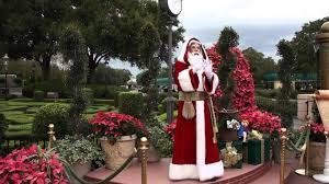 Decoration Noel Disney by Pere Noel Walt Disney World Epcot France Youtube