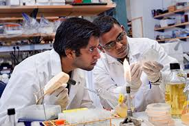 Microbiology and Immunology Ph D  Student in the News   Columbia     Columbia University   Graduate School of Arts and Sciences Scientists at work  Arnab De  left  and Ramkumar Mathur  right  at Columbia  Photo courtesy  Columbia University