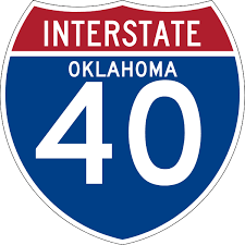 Interstate 40 in Oklahoma