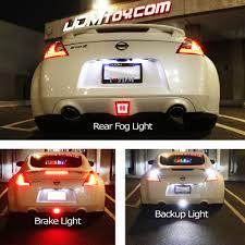 nissan 370z in winter damn nissan 370z led rear fog light reverse light