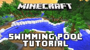minecraft tutorial how to make a swimming pool modern house