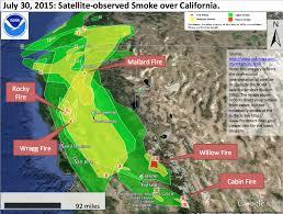 Willow Wildfire California by California Smoke Information Friday July 31 2015 Yesterday U0027s