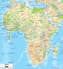 Physical Map Of South America by Physical Map Of Africa Ezilon Maps