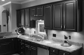 Dark And White Kitchen Cabinets Dark Cabinets In Kitchen White Gloss Island With White Granite Top