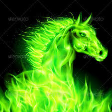 Image result for green horse
